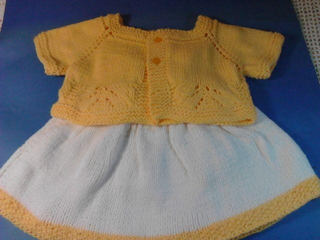 Completino bimba color giallo di Le Creazioni di Manola su DaWanda.com