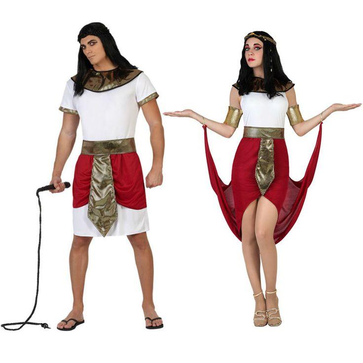 Pareja disfraces egipcios rojos parejas disfraces for Disfraces parejas adultos