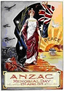 Lest We Forget - honour the ANZACs (ANZAC Day poster from 1919)