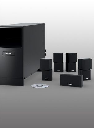 The Bose Accoustimass is the perfect companion to any AV receiver home theater system.