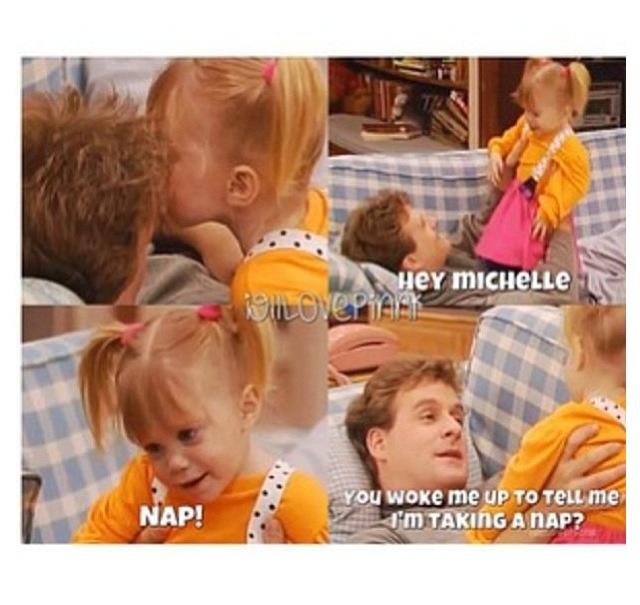 Full House. Michelle and Joey. Ha ha! How adorable.