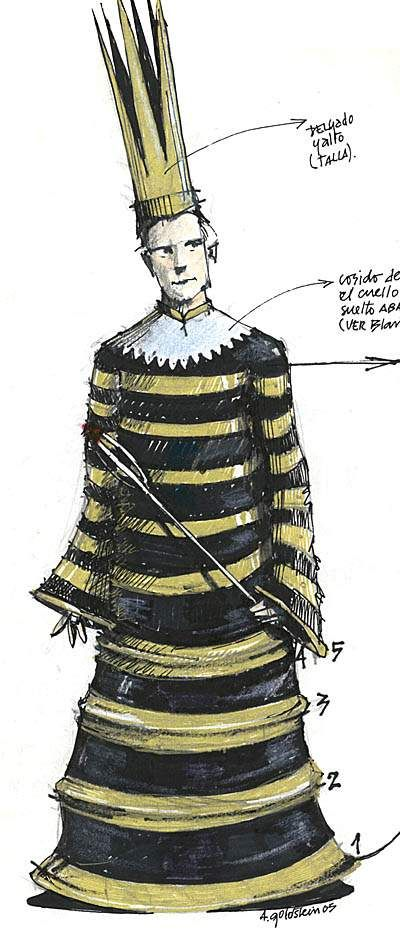 "Vestuario ""Principe Feliz"",  Dir. Gaston Cerana. Diseño esenografia y vestuario:  Alejandro Goldstein"