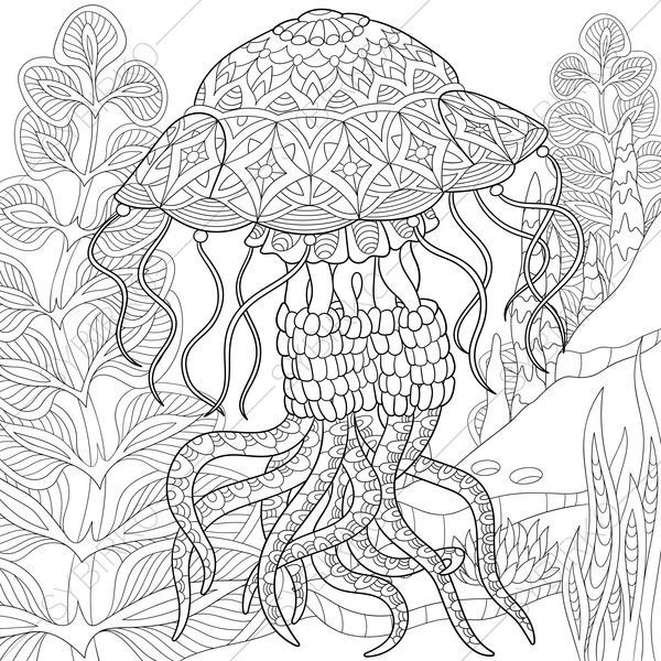 Nautical Coloring Pages For Adults : Best images about sealife nautical colouring pages