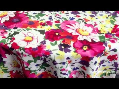 Tablecloth - Floral Fantasy Fabric