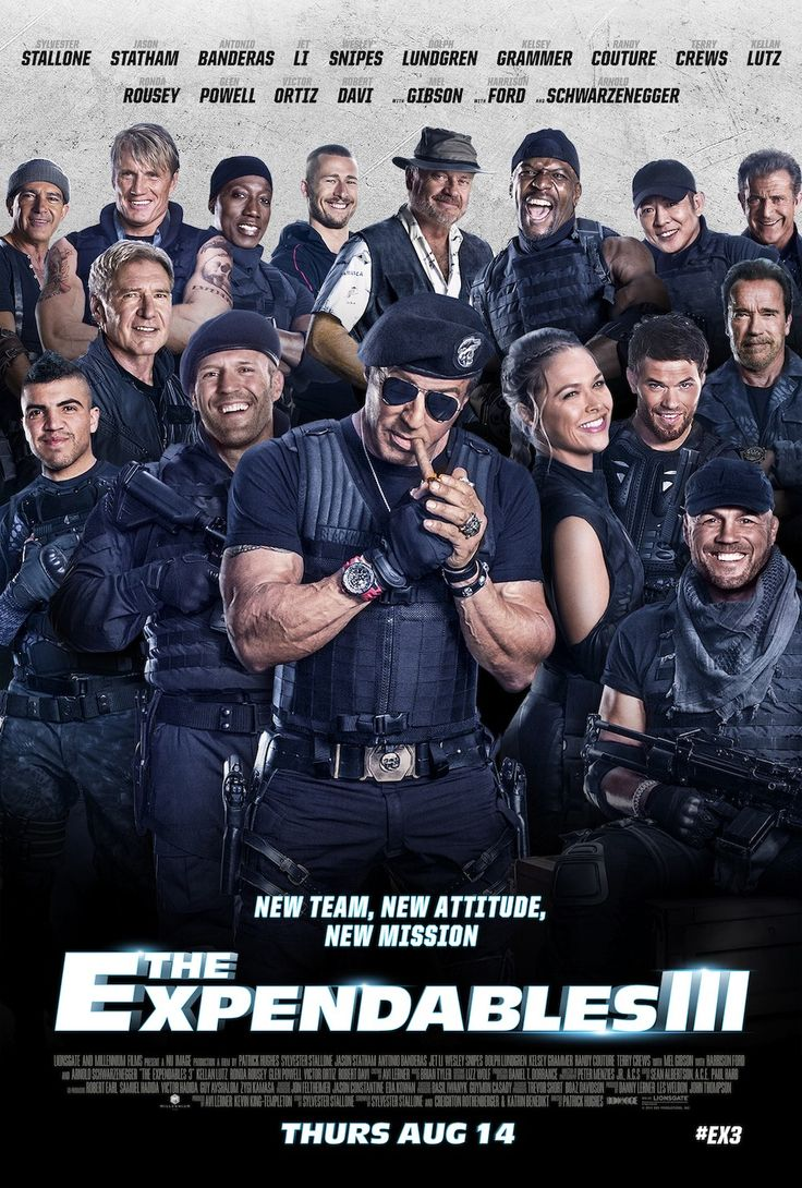 """The Expendables 3"" Scheduled release date: 08/15/14 (not really interested in this one, but the hubby is so most likely will be seeing it)."