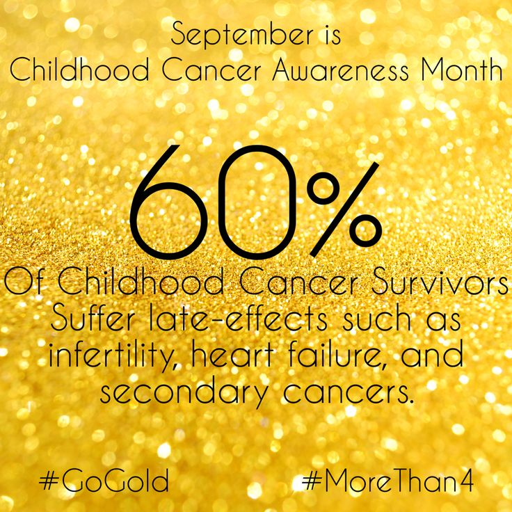 September is Childhood Cancer Awareness Month. Please join me and #GoGold for… …