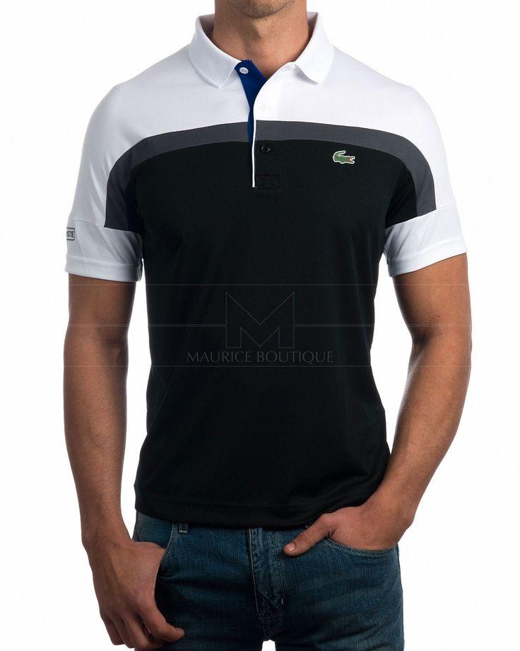 32b2d8cf19a36 Polo Lacoste - Blanco Marino y Gris Roland Garros   Lacoste   Pinterest    Polo, Lacoste y Polo shirt design