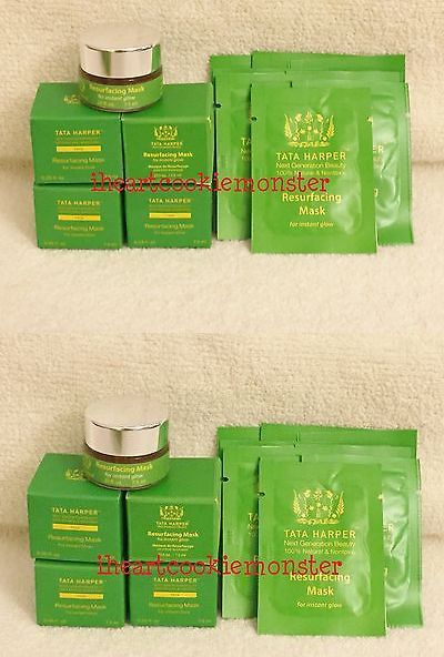 Body Scrubs and Exfoliants: Tata Harper Resurfacing Mask Instant Glow Mini Jars 7.5Ml .25Oz X 4 + 10 Packs -> BUY IT NOW ONLY: $39.95 on eBay!