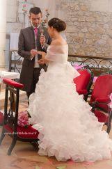 Cérémonie religieuse - Echange des alliances - Eglise - Mariage rose ...