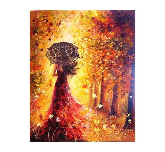 DIY Beauty Girl Paint Oil Painting By Numbers Kit Oil Painting Art Home Decor