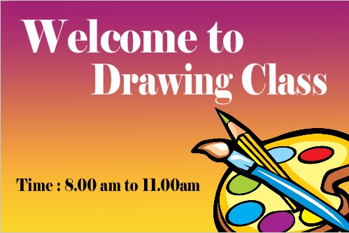 Welcome To Drawing Class Banner