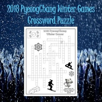 Best 25 crossword puzzles ideas on pinterest word puzzles this 2018 pyeongchang winter games crossword puzzle will make a great addition to your 2018 winter ccuart Gallery