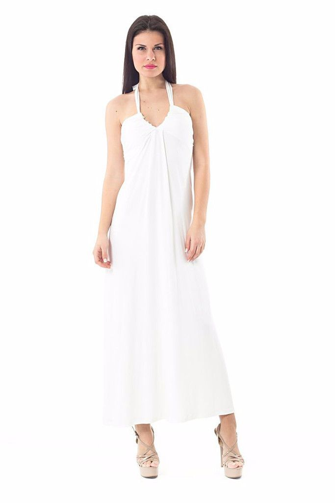 Halter Neck Maxi Dress LAVELIQ