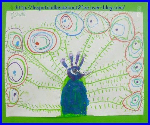 peacock art mixed media