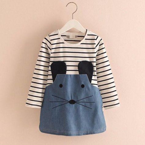 b4e93c242 Little Mouse Spring Dress   Tonikalar   Dresses kids girl, Kids ...