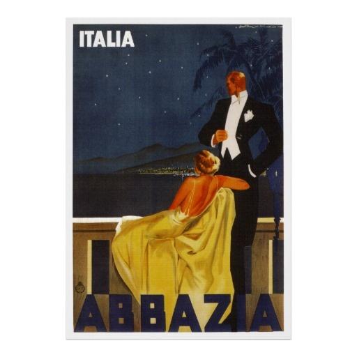 Hotel Abbazia ~ Venice Italy ~ Vintage Travel Print