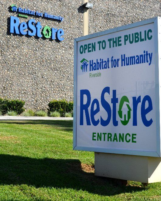 The Riverside ReStore is a nonprofit home improvement store and donation center that sells new and gently used furniture, appliances, home accessories, building materials, home improvement materials,  and more at a fraction of the retail price.