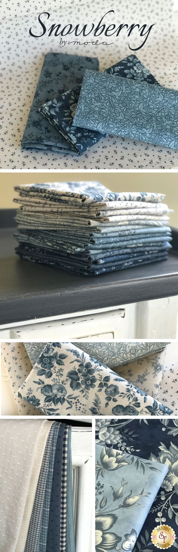 Snowberry is a beautiful winter collection by 3 Sisters for Moda Fabrics available at Shabby Fabrics!