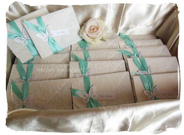 Il Blog di Artefem: Partecipazioni carta di gelso Tiffany
