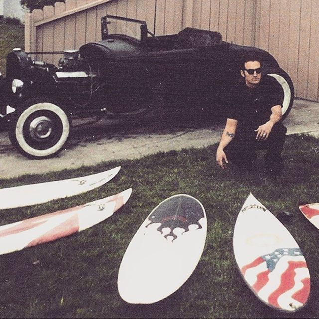 Hot Rod Surf circa 1998 ⚡️ Times have changed but the theme remains the same .... fast machines, beach vibes, rock & roll and surfboards #hotrodsurf #theoriginal #beach #vintage #surfboard #surfer #hotrod #surfing #vintagesurf #greaser  #mwm #markwhitneymehran #pacificbeach #sandiego #california #pacificbeachlocals #sandiegoconnection #sdlocals #sandiegolocals - posted by HOTRODSURF  https://www.instagram.com/hotrodsurf. See more post on Pacific Beach at http://pacificbeachlocals.com