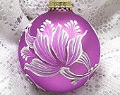 Soft Red Violet MUD Tulips Ornament 136