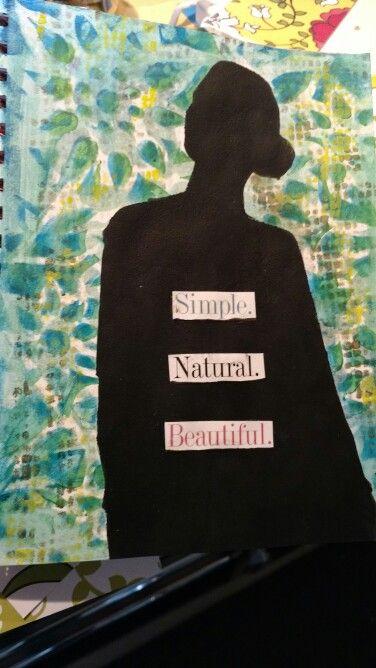 Journal page,  Dina Wakley layer stencils.