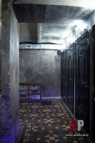 "Дизайн интерьера ночного клуба «Менделеев» в стиле винтаж | #Interior #design #nightclub ""Mendeleev"" in vintage style"