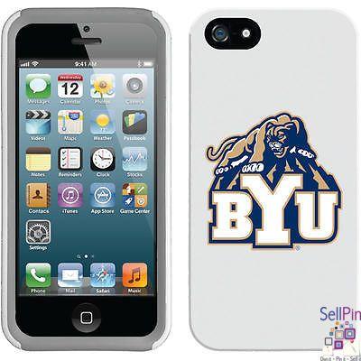 $27.00: BYU Cougars iPhone 5 New Guardian Case (BYU Mascot Design) (White-Grey)