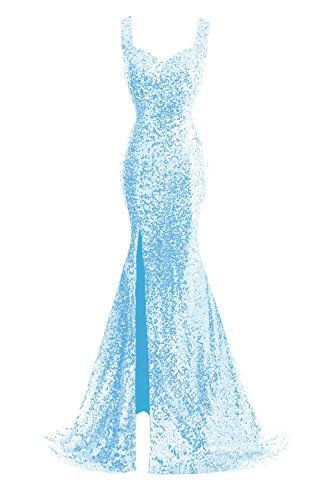 JudyBridal Women Straps Mermaid Sequins Prom Dresses with Split Side Sky Blue JudyBridal http://www.amazon.com/dp/B017Q0M2Z2/ref=cm_sw_r_pi_dp_FUu6wb0ZS9HJJ