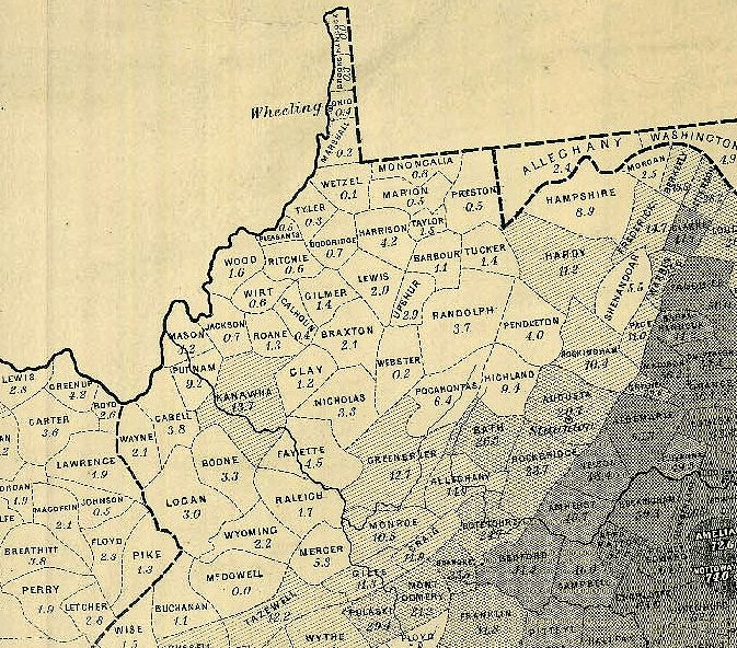 1861 map Visit this site for the full story regarding West Virginia and slavery and the Proclamation of Lincoln.
