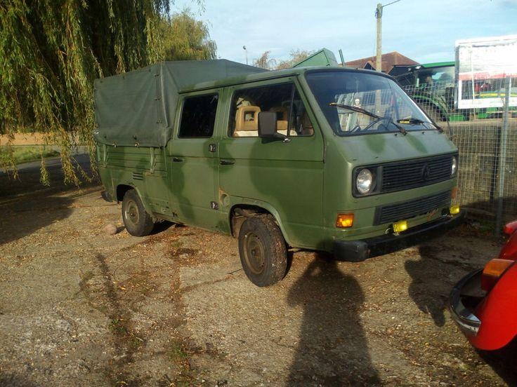Vw T25 crewcab 1991 ex german army (2) dokas, (1) T4 doka, (1) T2 panel van   | eBay