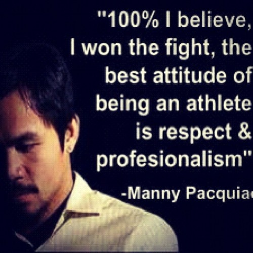 Manny Pacquiao ~ pacman  Spoken like a TRUE CHAMPION!