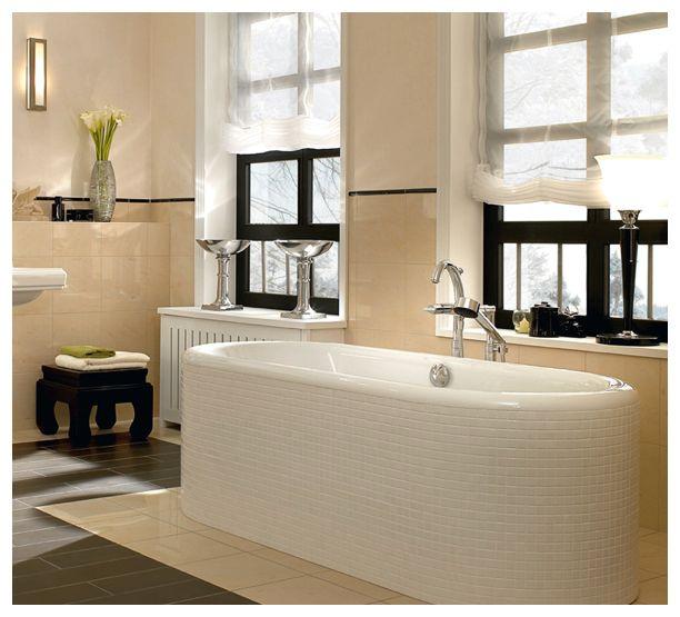 UBQ180NEU7V-01 Villeroy & Boch  V&B Nexus Ovalt badekar for innbygging 1771x771 mm. Produsert i Quaryl