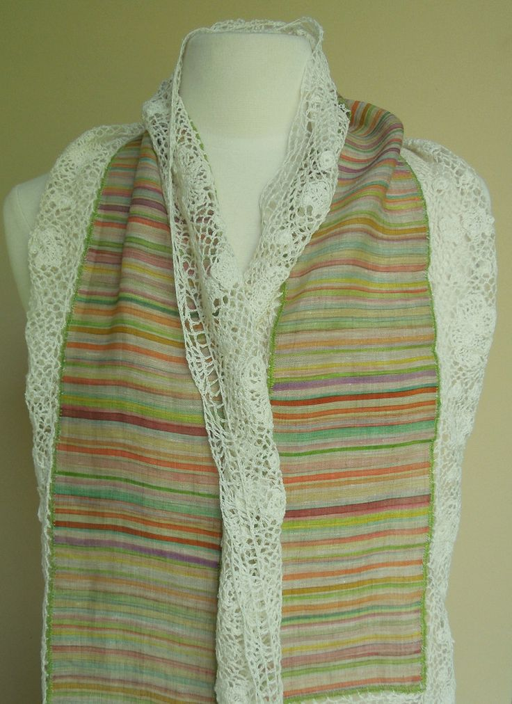 Tess scarf – French Needlework Kits, Cross Stitch, Embroidery, Sophie Digard – The French Needle