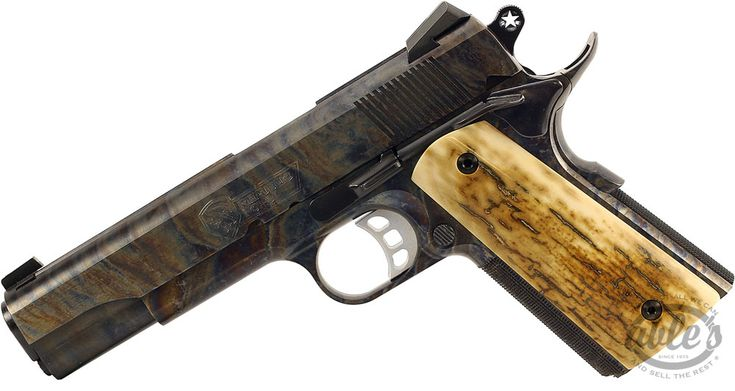 """Republic Forge Republic 1911, 45 ACP, 5"""", Mammoth Ivory Exotic Grips, Color Case Finish, Texas Star Hammer"""