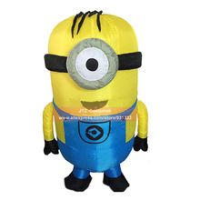 US $47.80 Cosplay Party Inflatable Adult Minion Costume Halloween Despicable Me christmas Mascot Men Women Fancy Dress Cloths Jumpsuit. Aliexpress product