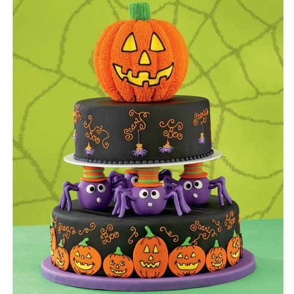 39 best Halloween cakes images on Pinterest Artistic make up - halloween decorated cakes