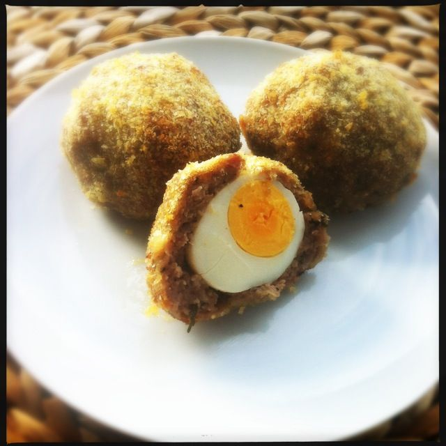 home made scotch eggs, slimming world style