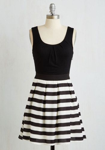 Stripe Cast Dress From The Plus Size Fashion At www.VinageAndCurvy.com