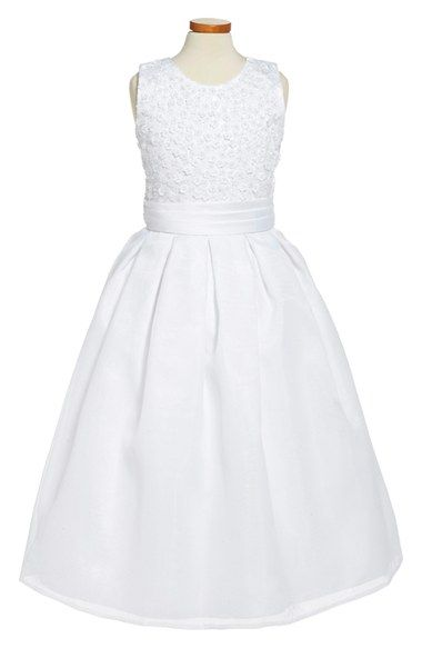 Joan Calabrese for Mon Cheri Sleeveless First Communion Dress (Little Girls & Big Girls) available at #Nordstrom