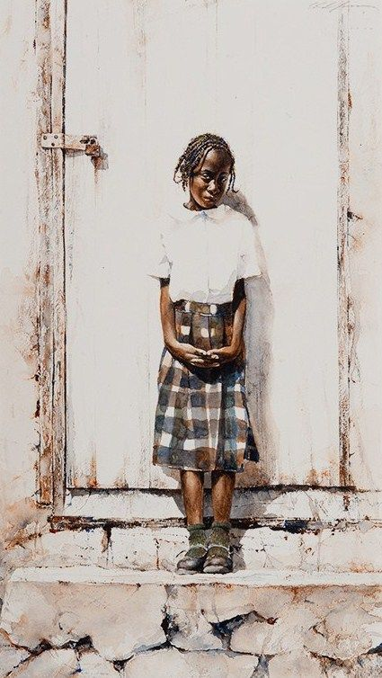 Dressed For School captures the studious girl as she is prepared for the day ahead. See this and other works by Stephen Scott Young at Morris & Whiteside Galleries. http://morriswhiteside.com/artists/painters/stephen-scott-young#