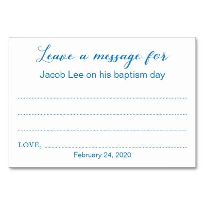 Leave A Message Baptism Christening Cards Blue - baby gifts child new born gift idea diy cyo special unique design  sc 1 st  Pinterest : baby gift message - medton.org