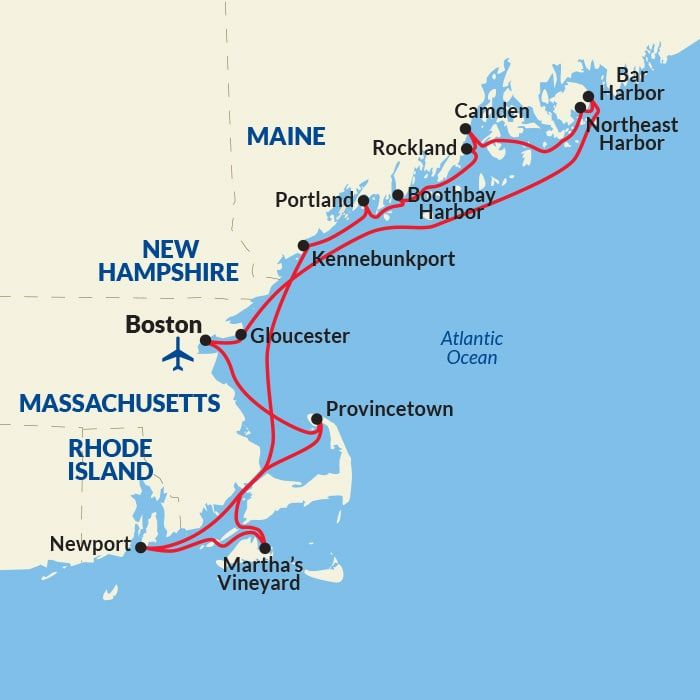 New England Small Ship Cruise - New England Cruise Lines
