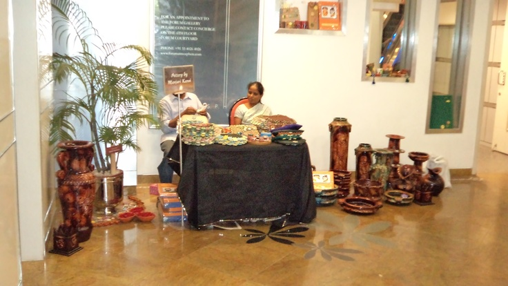 Pottery and Handicrafts stall during Diwali BAzaar at Forum Mall.