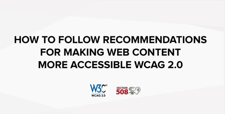 See the video - watch how to follow recommendations for making #web #content more accessible #WCAG 2.0 (Section 508) #Joomla https://www.youtube.com/watch?v=o7IcVmat-fg
