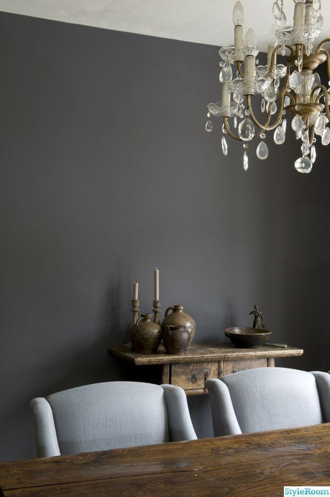 Gråa väggar - sovrum kritfärg grime från painting the past