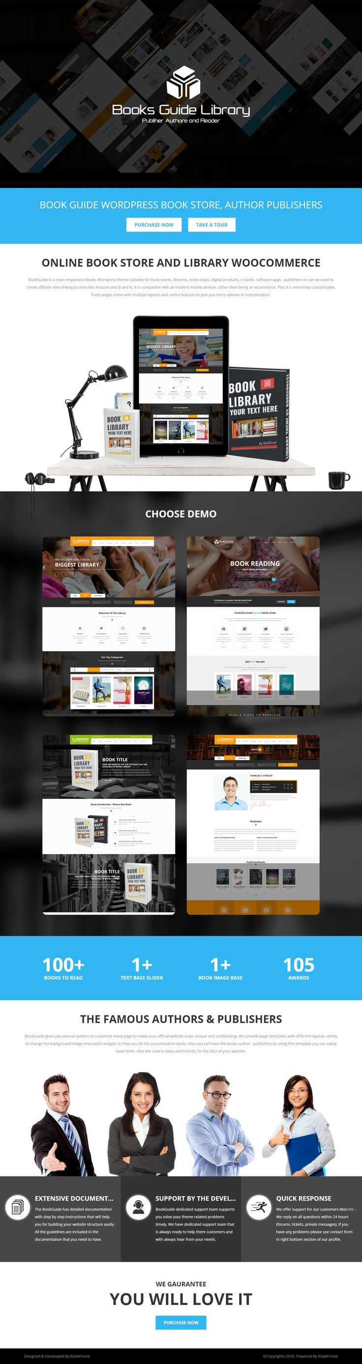 It's a robust, responsive, super-cool Wordpress Theme for eCommerce and online book store requirements. BookGuide gives a better facelift to your idea of running an Online Store. Be it your need selling physical products or ebooks, BookGuide comes as a perfect solution. What's more attractive about the theme is, it comes with multiple homepage layouts and different trending colours. With latest Wordpress version.