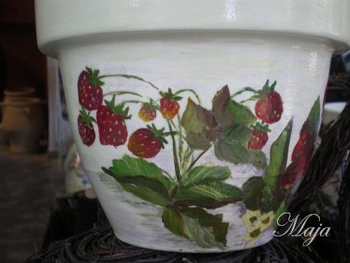 Flower pot with decoupage and easy painting~ Γλάστρα με decoupage και easy painting