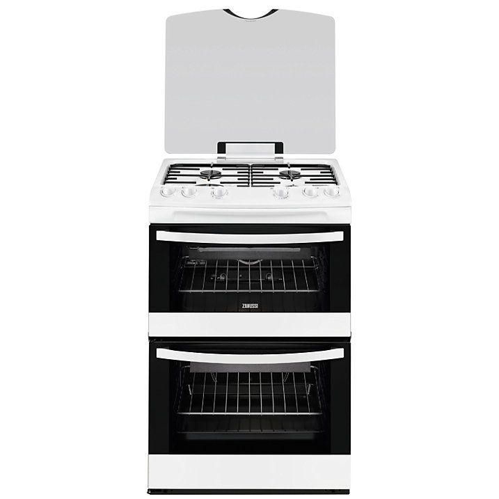 Buy Zanussi ZCG63010WA Gas Cooker, White Online at johnlewis.com