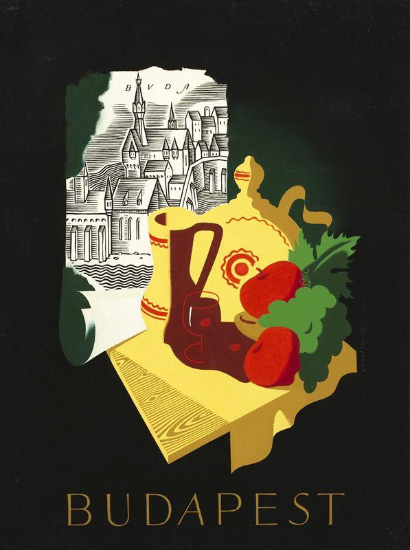 György Konecsni's poster: Budapest 1936